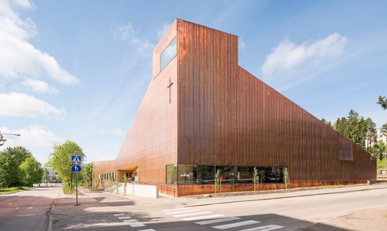 OOPEAA designed the Suvela Chapel, a copper-clad building that serves one of the most multicultural districts in the Helsinki metropolitan region.