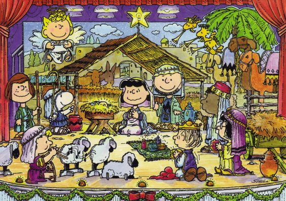 Charlie Brown Snoopy and Peanuts Gang Nativity by MagnetsbyAbby: