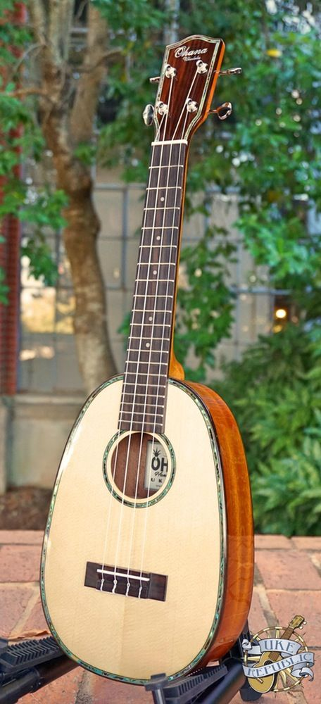 Image of Ohana PKC-70G All Solid Spruce/Mahogany Pineapple Concert Ukulele
