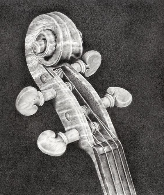 My most recent pencil drawing 'Violin Scroll' | Remrov's ...