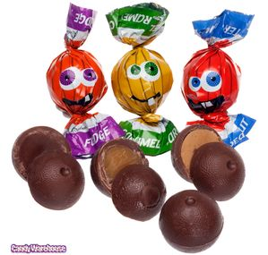 Twist Wrapped Milk Chocolate Pumpkins: 35-Piece Bag