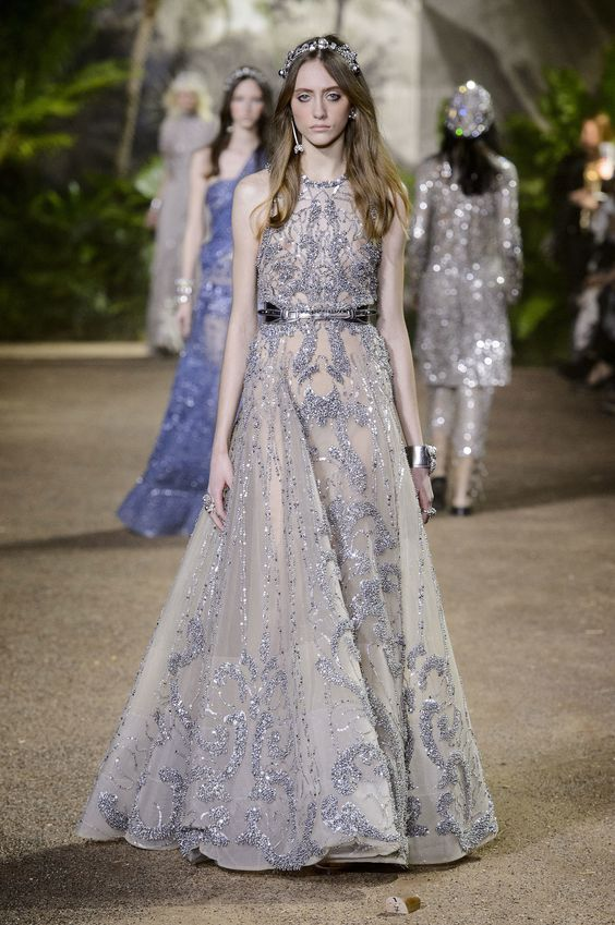 Elie Saab's Couture Collection Is Full of Dreamy Dresses and Sparkling Pants — Yes, Pants