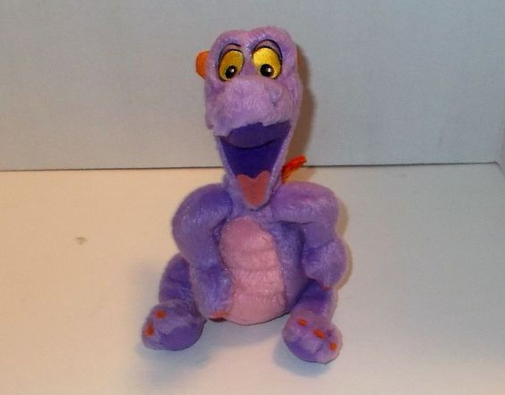 "FIGMENT Walt Disney World EPCOT 10"" Plush Purple Dragon"