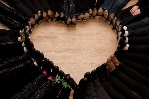 I LOVE tap!  What a great picture!  I am totally stealing this idea next time I am with a big enough group.