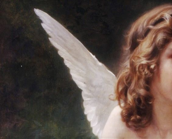"die-rosastrasse: "" William-Adolphe Bouguereau French, 1825-1905 Cupid (detail) """