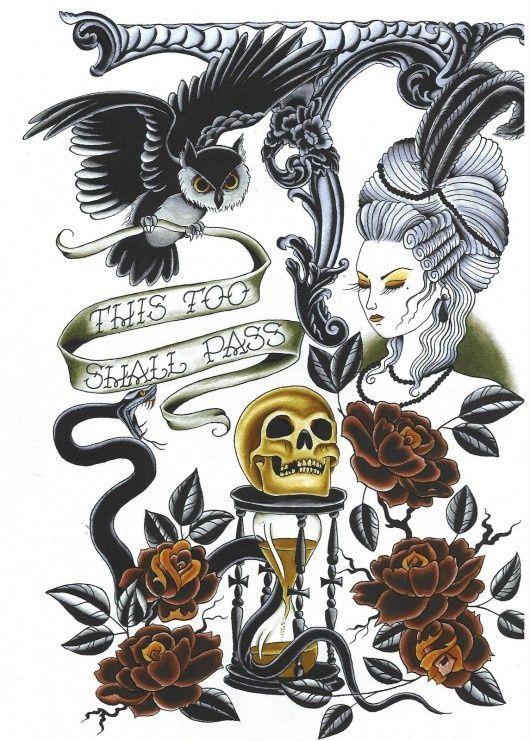 Tattoo Flash. Death is inevitable.