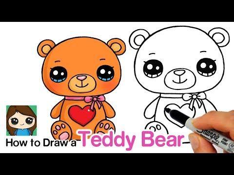 Draw So Cute Youtube Teddy Bear Drawing Cute Drawings Cute Bear Drawings
