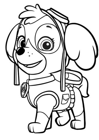 Coloring Pages Paw Patrol Coloring Pages Paw Patrol Coloring Skye Paw Patrol
