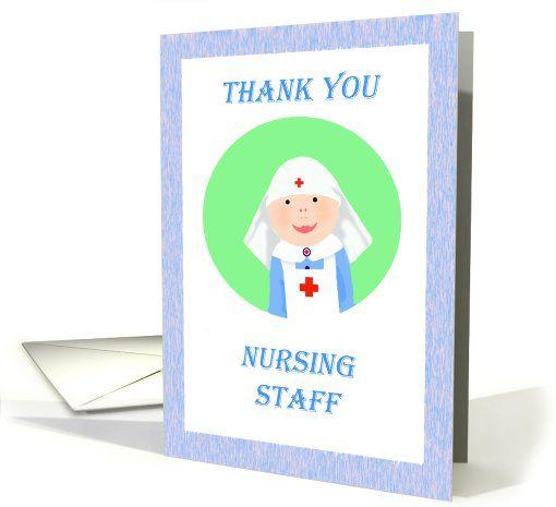 Thank you Nursing staff, Nurse in uniform card (809832)