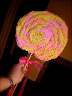 My Leisure... My Life: Giant Lollipop Tutorial - great for decorating for bday party - bjl