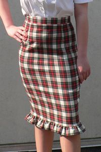 tartan skirt - that's a very cute ruffle round the bottom