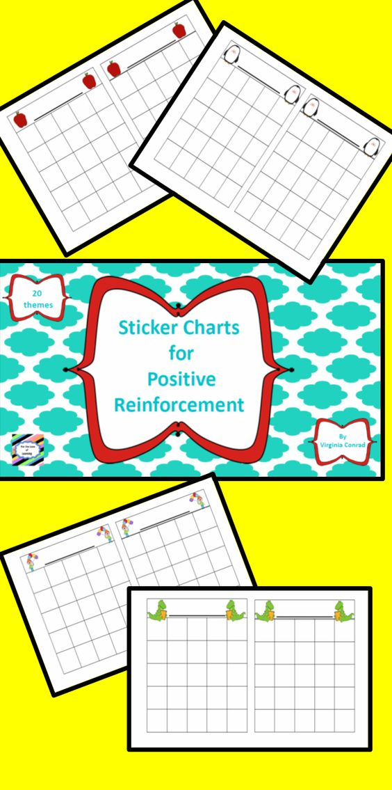 Classroom Reward Ideas Elementary ~ Sticker charts for positive reinforcement