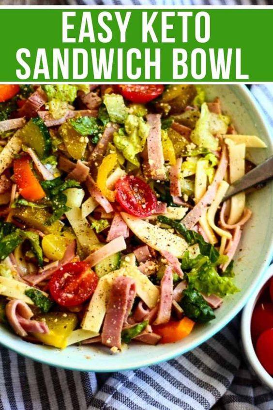 Easy Keto Sandwich Bowl
