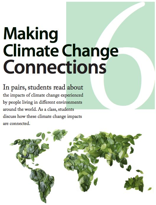 climate change class project Students will use data and evidence to justify claims relating to climate, climate change, and mitigation  entire class in which new or difficult terms are .