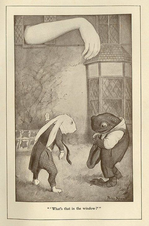 From the book Alice's Adventures in Wonderland by Lewis Carroll, Illustrated by Peter Newell: