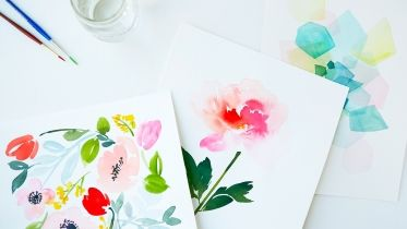 Creativebug - Craft Classes & Workshops - What will you make today?  Intermediate Watercolor: Painting Florals
