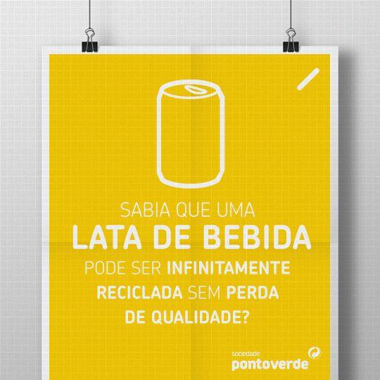 Sempre que acabar uma bebida, não se esqueça de reciclar a lata: esta pode durar para sempre!