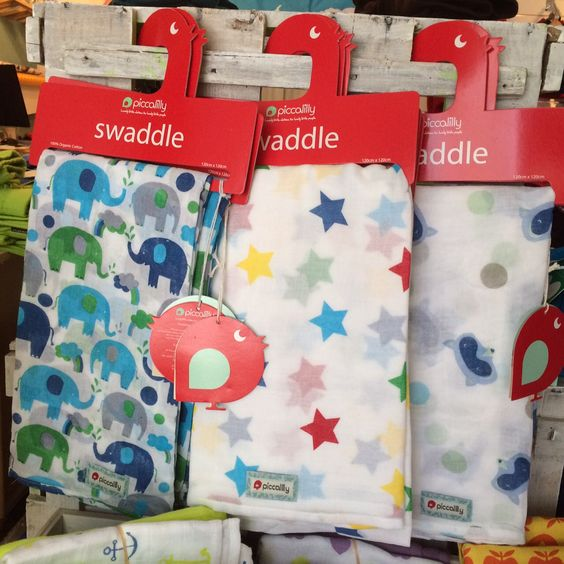 colourful swaddles by Piccalilly - available at Lillahopp.com