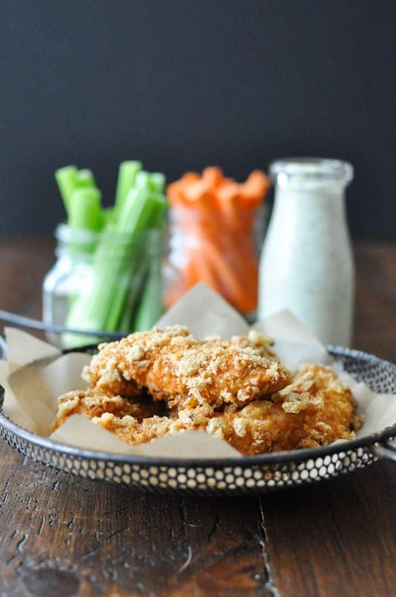 Crispy Buffalo Chicken Fingers Recipe | stupideasypaleo.com:
