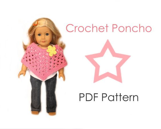 Doll Poncho -free pattern on craftsy American Girl and ...