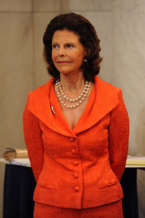 Her Majesty Queen Silvia of Sweden, Founder, World Childhood Foundation, waits to speak at the 5th Birthday And Beyond event at the Russell Senate Office Building, 25.06.2014 in Washington, DC.