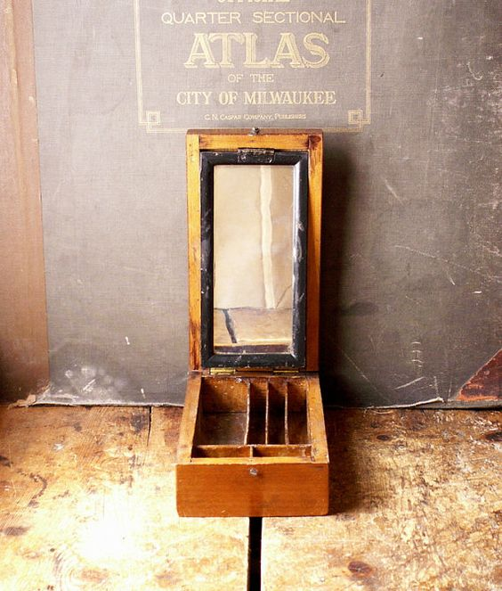 Vintage handgemachte Travel Shaving-Box mit von CopperAndTin