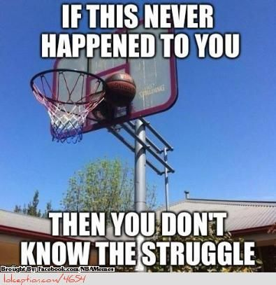 This happened during a game and the ref was too short so one of the parents had to jump up there and get it!