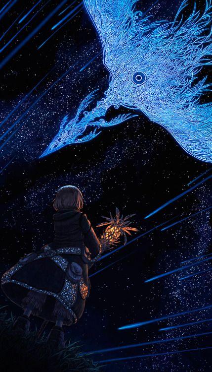 phoenix in the night sky