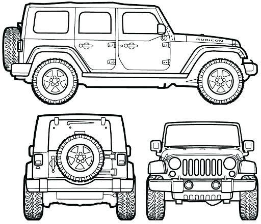 Dibujo De Jeep Para Colorear Dibujos Para Colorear Coloreartv Com Jeep Wrangler Rubicon Jeep Wrangler Jeep