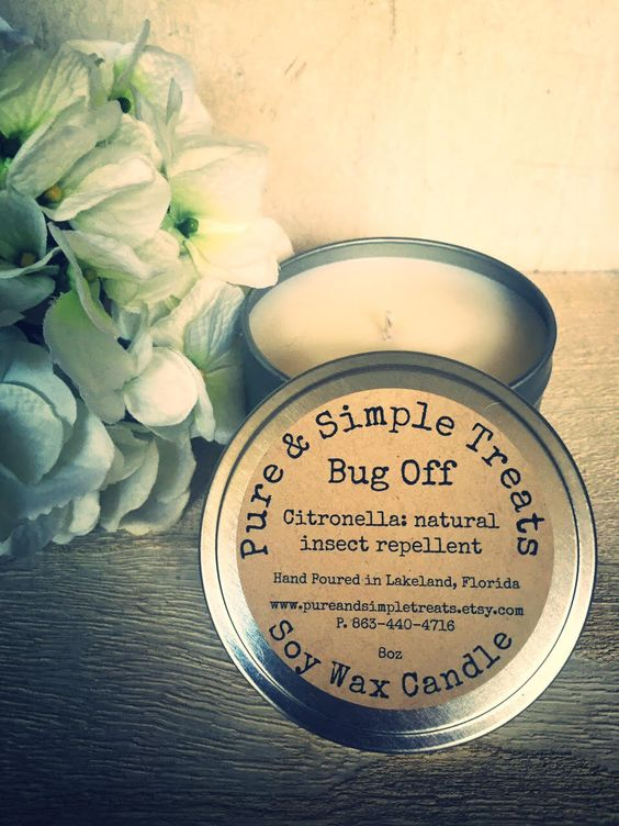 Citronella natural bug repellent soy candle https://www.etsy.com/listing/261814298/bug-off-natural-citronella-soy-candle