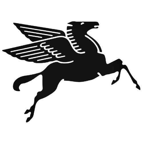 Corporate Logo Decals Mobil Pegasus Decal Sticker Style 1 Vinyl Decal Sticker Many Size Options And Color Options Industry Pegasus Logo Pegasus Vinyl Decals