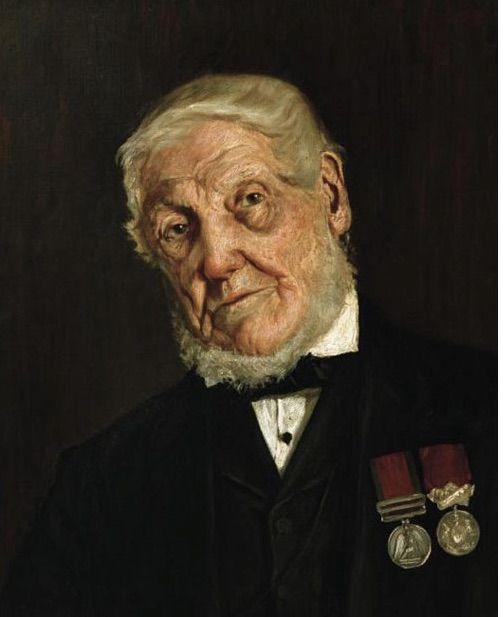 The oldest Scots survivor of the battle of Waterloo, John Dickson formerly of the Scots Greys.