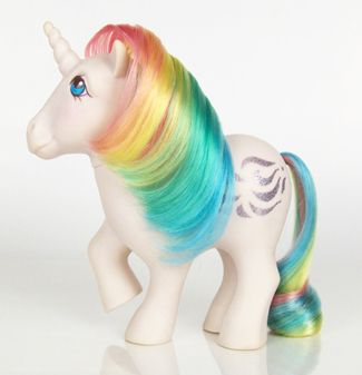 The My Little Ponies I loved and adored - before they became totally creepy looking!