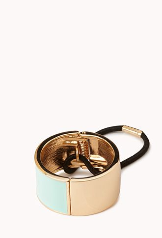 Lacquered Cuff Hair Elastic | FOREVER21 - 1056805057