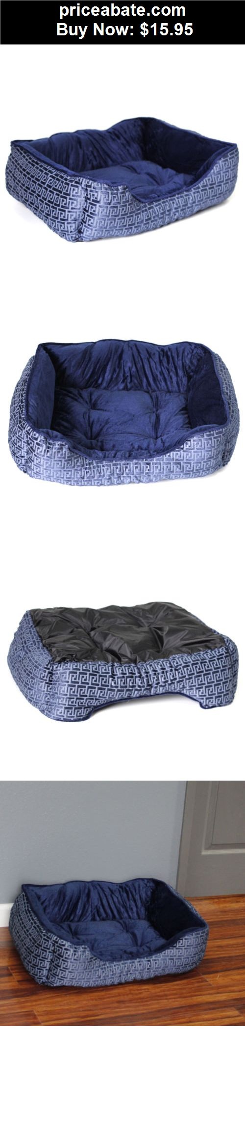Animals Dog Pet Bed Blue Pad Crate Cuddler Soft Cozy Warm Dog