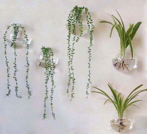 encuentra el mejor decoracin para el hogar floreros de vidrio pared colgando jarrones decorativos peces tazn