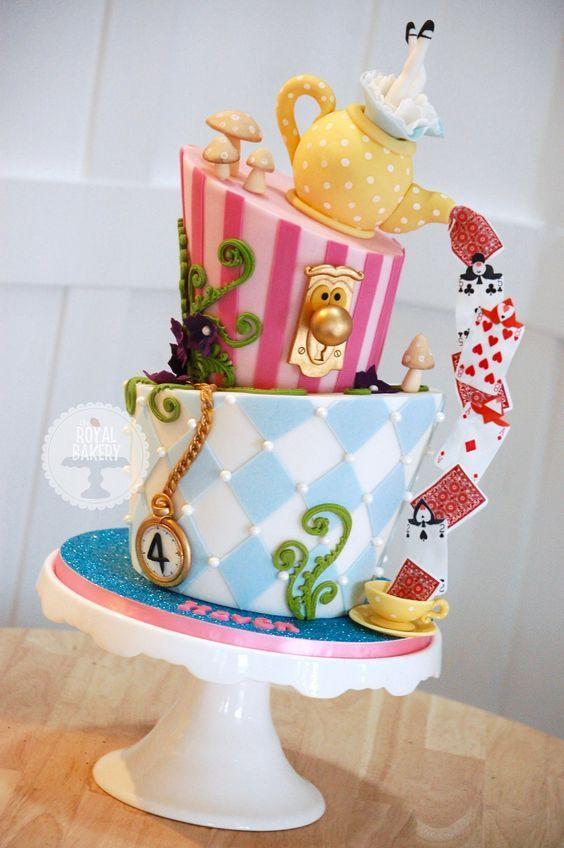 Fantasy Taart Alice Disney Taarten Feesttaart Verjaardagstaart
