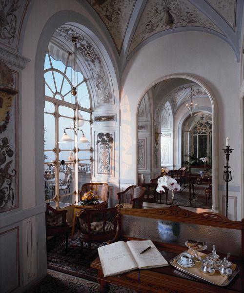 "georgianadesign: ""The Grand Hotel Excelsior Vittoria, Sorrento, Italy. """