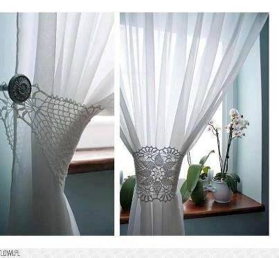 Abrazadera de cortinas cortinas a crochet pinterest - Abrazaderas para cortinas ...
