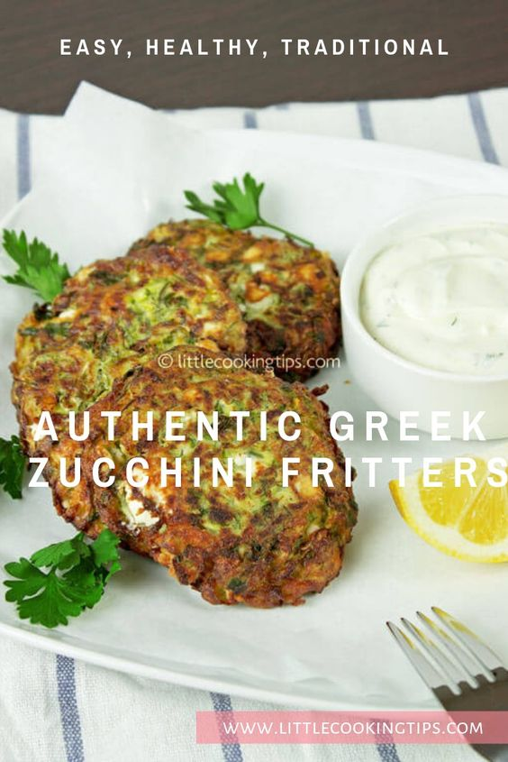 Easy feta and zucchini fritters