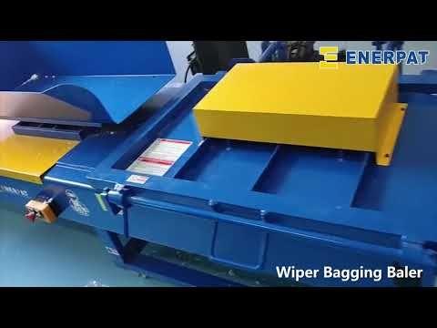 Uk Enerpat Wiper Bagging Baler Bagging Baler With Scale Shaving Machine Horse Bedding Baler