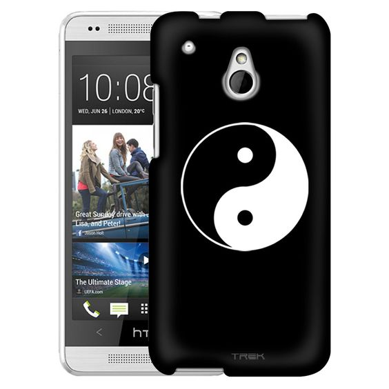 HTC One Mini Silhouette Yin and Yang on Black Slim Case