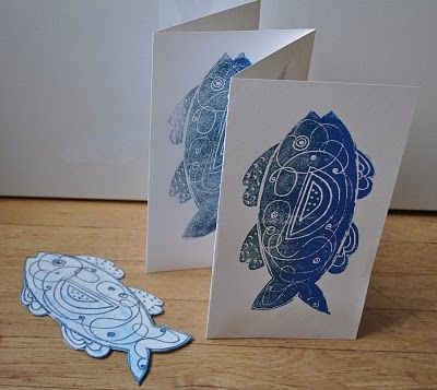 I like the idea of cutting a shape out of the foam, and then adding designs, instead of just drawing your whole picture on the foam!