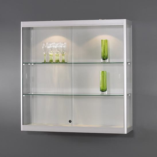 Wall Mounted Glass Display Case Trophy Case Wall Mounted