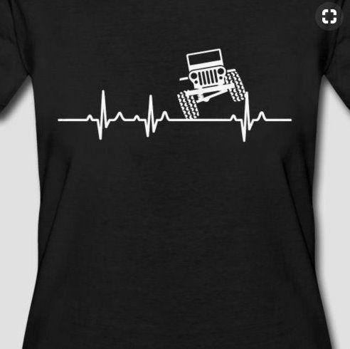 Jeep Heartbeat Tshirt Jeep Shirt Jeep T Shirt Jeep Life Jeep