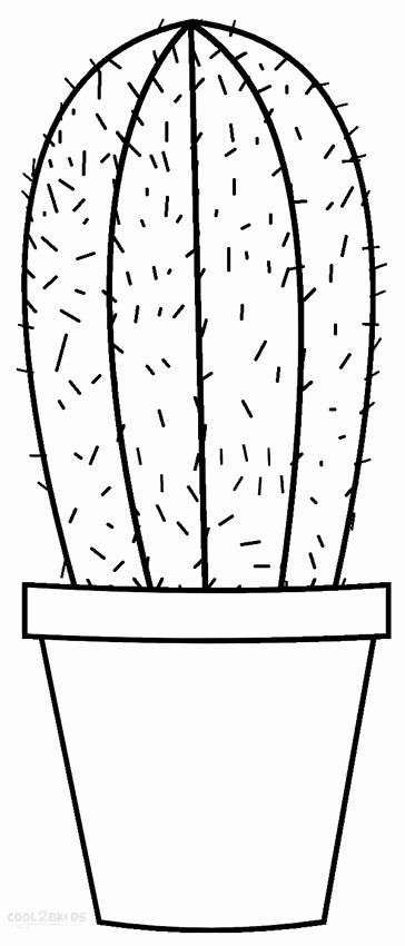 Cute Cactus Coloring Page
