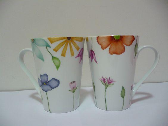 Taza de ceramica pintadas a mano vajilla artesanal - Tazas decoradas a mano ...