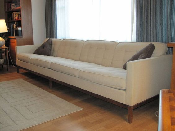 10 Foot Vintage Knoll Sofa Couch Mid Century Modern Danish
