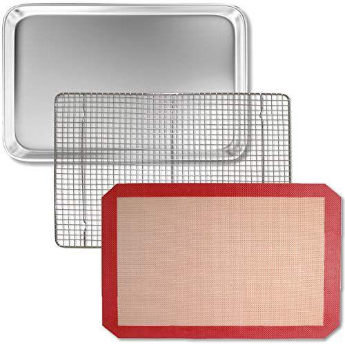 Bakeware Set Ndash Silicone Mat Aluminum Sheet Pan Bakeable