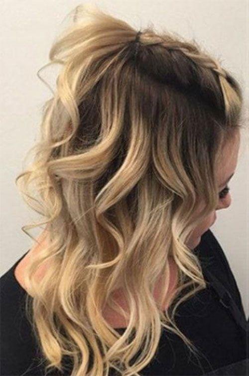 20 Fruhlingshaar Ideen Fur Kurze Mittlere Und Lange Haare Flechten Frisuren Mode Ideen Coiffures Mignonnes Coiffure Cheveux Mi Long